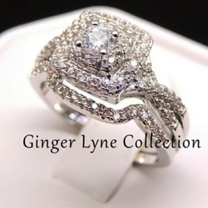 *SOLD* Ginger Lyne Frances Halo Engagement Set